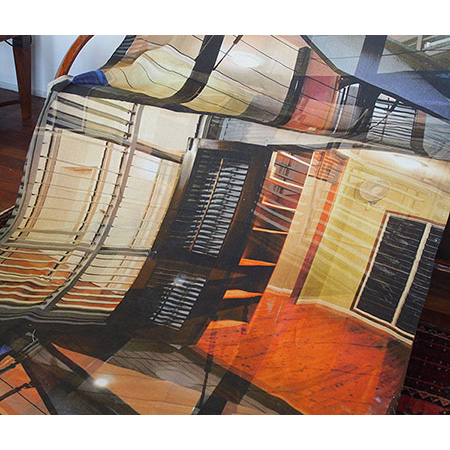 Louvres and Floorboards, digital print on linen