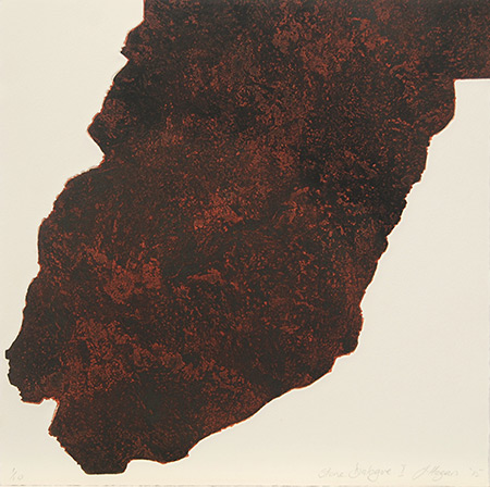 Stone Dialogue I, etching by Jan Hogan