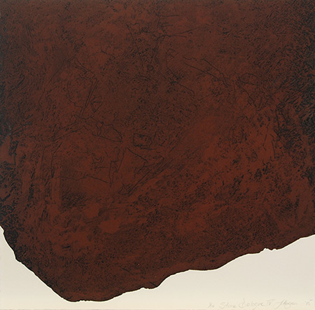 Stone Dialogue IV, etching by Jan Hogan