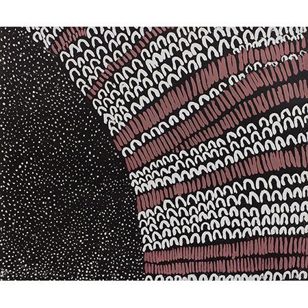Starry Night in Jimbirla and Dayiwool Country, etching by Lena Nyadbi