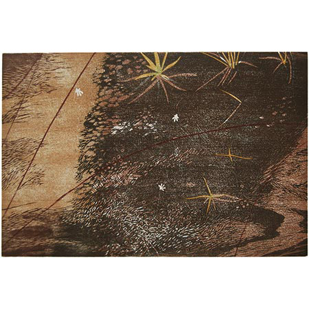Within the Sand Sheets, woodblock print by Jacqueline Gribbin