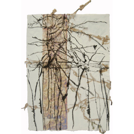Colonise,  drypoint and mixed media, 60 x 42 cm, 2015