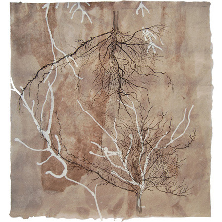 Groundswell, drypoint and mixed media, 95 x 88 cm, 2015