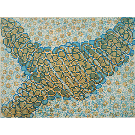 Aaron McTaggart, Awarrapun - Crocodile Design, two plate etching.