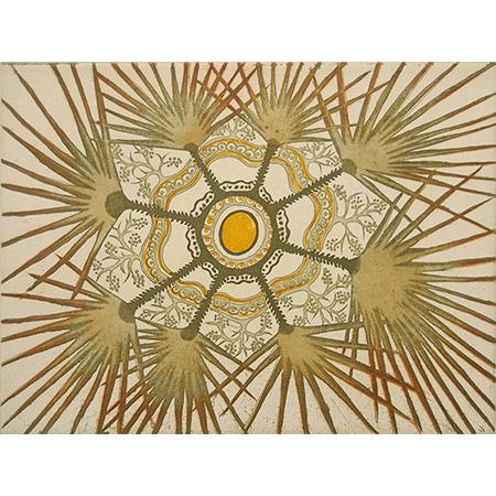 Gracie Kumbi, Merrepen - Sand Palm, two plate etching.