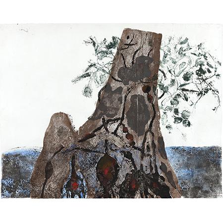 Yirriŋaŋiŋ, Muwuka and Buwukul, woodcut by John Wolseley