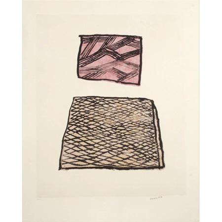 Lightning and The Rock (423-16), lithograph by Nonggirrnga Marawili