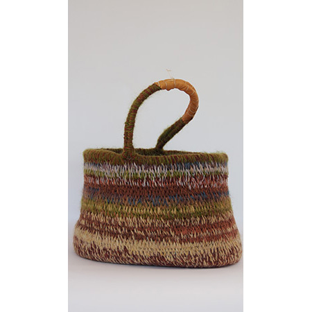 Woven woollen basket (PS-1-10-16) by Peta Smith