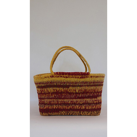 Woven woollen basket (PS-6-10-16) by Peta Smith
