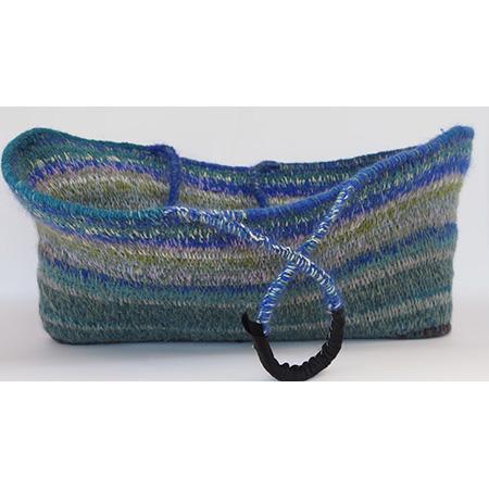 Woven woollen basket (PS-7-10-16) by Peta Smith