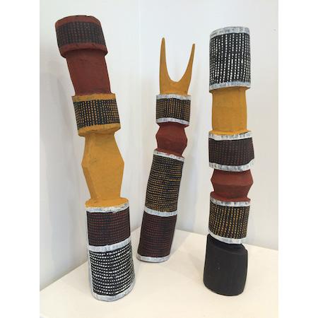 Pukumani Poles from Jilamara Arts on the Tiwi Islands