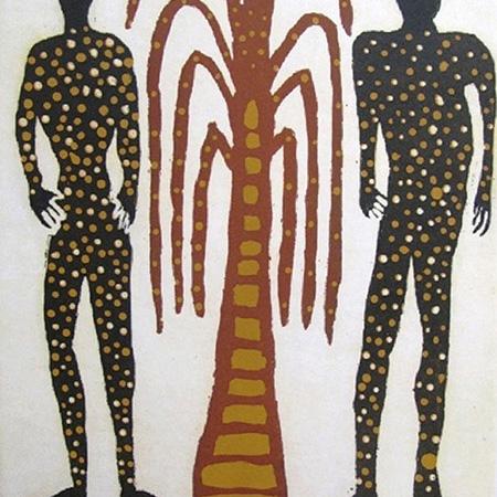 Mokuy (Spirit Men), etching byDavid Djarrka