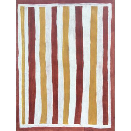 Garrawurra Body Paint Design ochre on paper by Ruth Nalmakarra