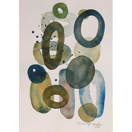 Humidity I, watercolour on paper by Anne McMaster