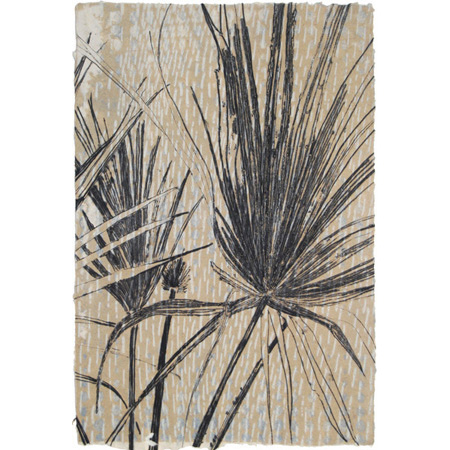 Radiate, drypoint on handmade paper by Winsome Jobling