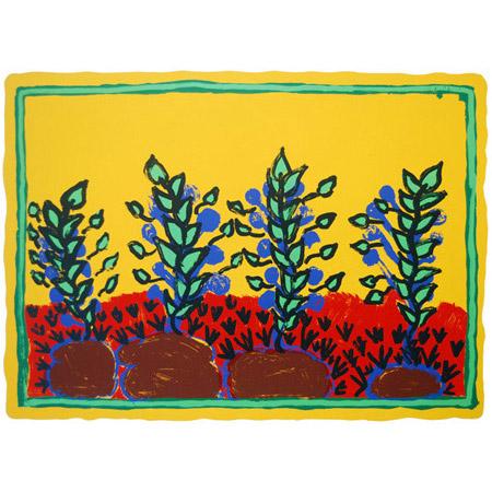 Annie Mulunwanga, Kun-ngad (billabong), screen print, 50 x 68 cm.