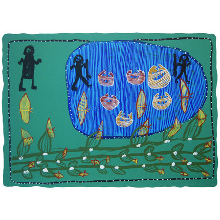 Marawarr, Koringkarri, screen print, 50 x 68 cm.