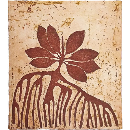 Little Mangrove, etching by Anne McMaster