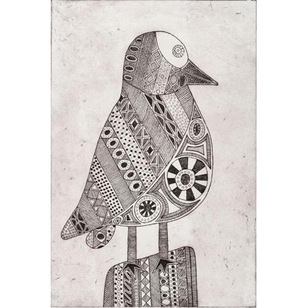 Muma - Torres Strait Pigeon, etching, 2018