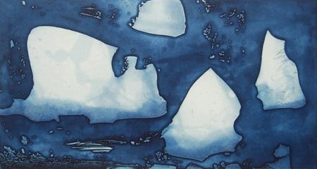 Bergs Passing, etching, 20 x 37.5 cm