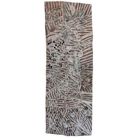 Mulkun Wirrpanda, Munbi, bark painting, 194 x 68 cm