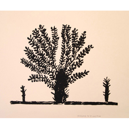 Bloodwood Tree, screen print by Maureen Timothy