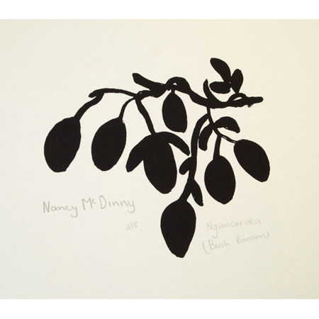 Ngamarraka – Bush Banana screen print by Nancy McDinny