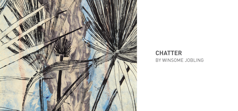 Chatter 5 detail, handmade papers, drypoint prints and stitching, 200 x 40 cm, 2018