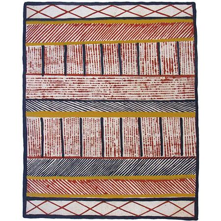 Jilamara, etching & silkscreen by Pedro Wonaeamirri