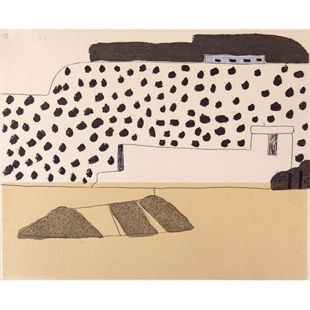Jordan, soft ground aquatint etching with chine collé