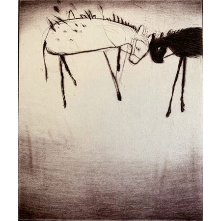 Animal Studies lll, etching by Monique Auricchio