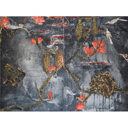 Brachychiton – Nanungguwa, etching by Fiona Hall, 50 x 66 cm