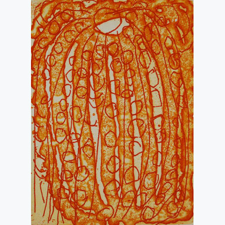 Yarla – Sweet Potato etching by Lorna Naparulla Fencer (dec)