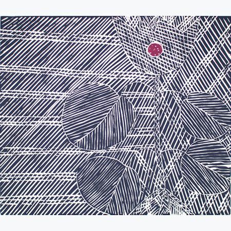 Garrimala, linocut by Malaluba Gumana