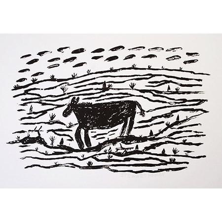 Bullock, silkscreen byStewart Hoosan