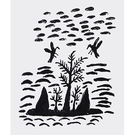 Eagle Hawk and Crow, silkscreen by Stewart Hoosan