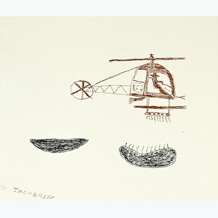Frack Off! #1, etching by Jack Green