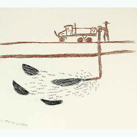 Frack Off! #2, etching by Jack Green