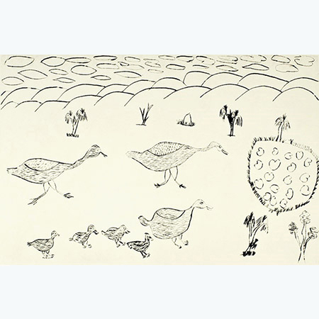 Birds, etching by Nancy McDinny